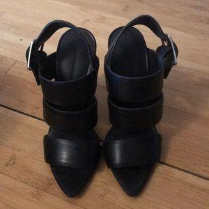 Alexander Wang Black Strappy Stilettos